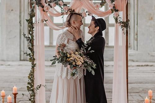 oriģināla kāzu fotogrāfija