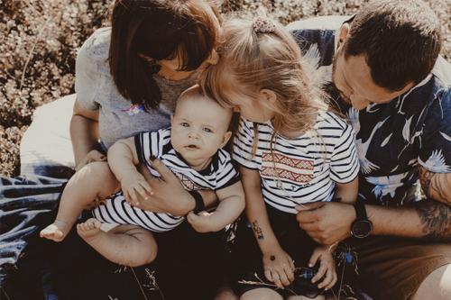 jauka ģimenes bilde