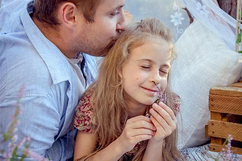 tēva un meitas fotogrāfija