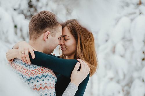romantiska bildēšanās diviem