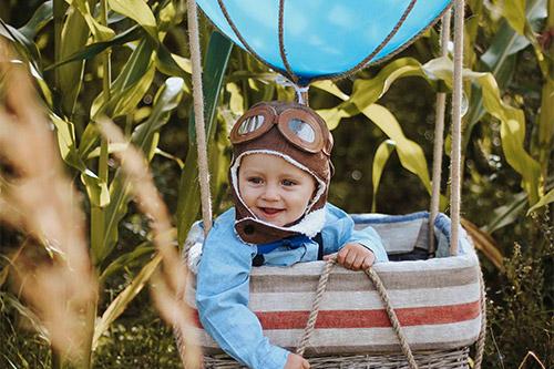bērna foto gaisa balonā