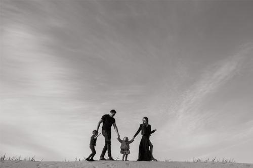oriģināla ģimenes fotogrāfija