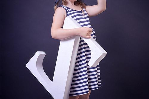 bērna foto studijā