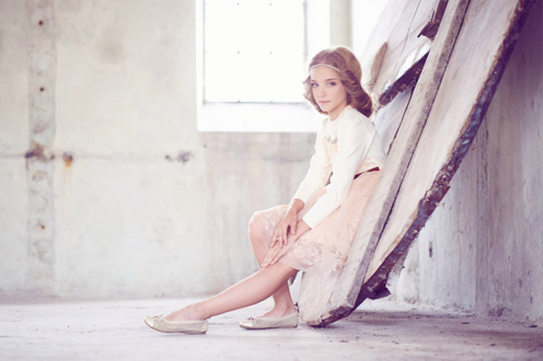 skaista meitenes portretu fotosesija