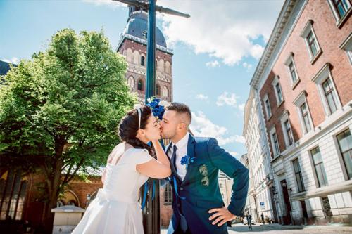 skūpsts Vecrīgas ielās