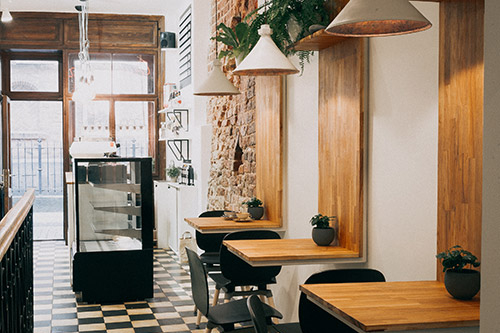 interjera fotogrāfija kafejnīcai