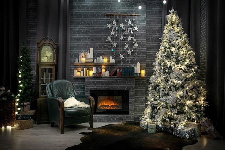 studija Ziemassvētku fotosesijām